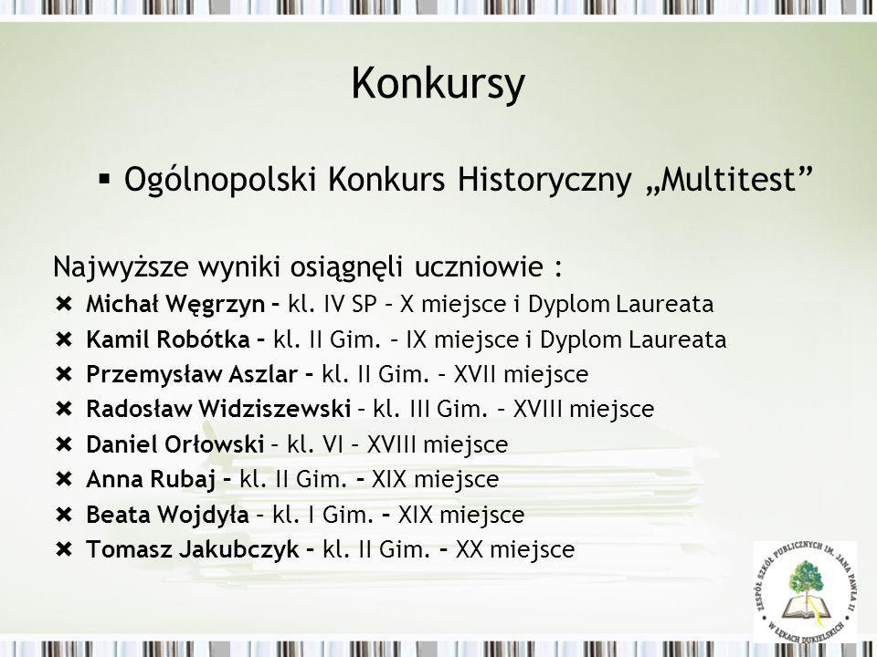 "Konkursy Ogólnopolski Konkurs Historyczny ""Multitest"