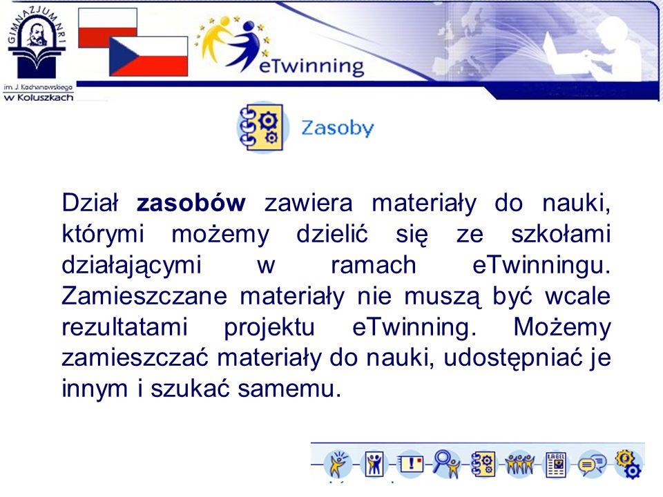 Dział zasobów zawiera materiały do nauki, którymi możemy dzielić się ze szkołami działającymi w ramach eTwinningu.