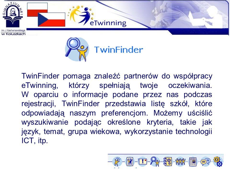 TwinFinder pomaga znaleźć partnerów do współpracy eTwinning, którzy spełniają twoje oczekiwania.