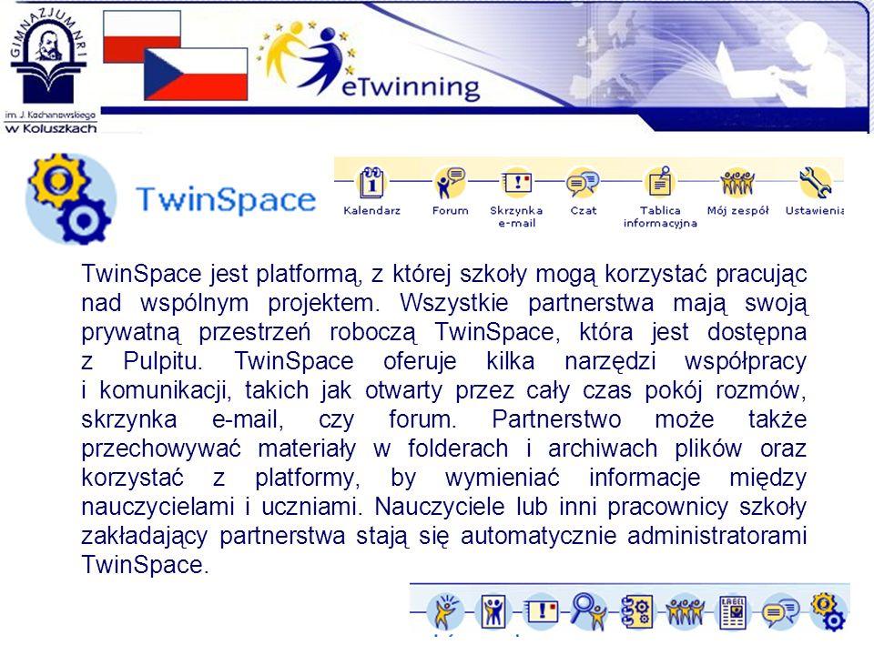 TwinSpace jest platformą, z której szkoły mogą korzystać pracując nad wspólnym projektem.