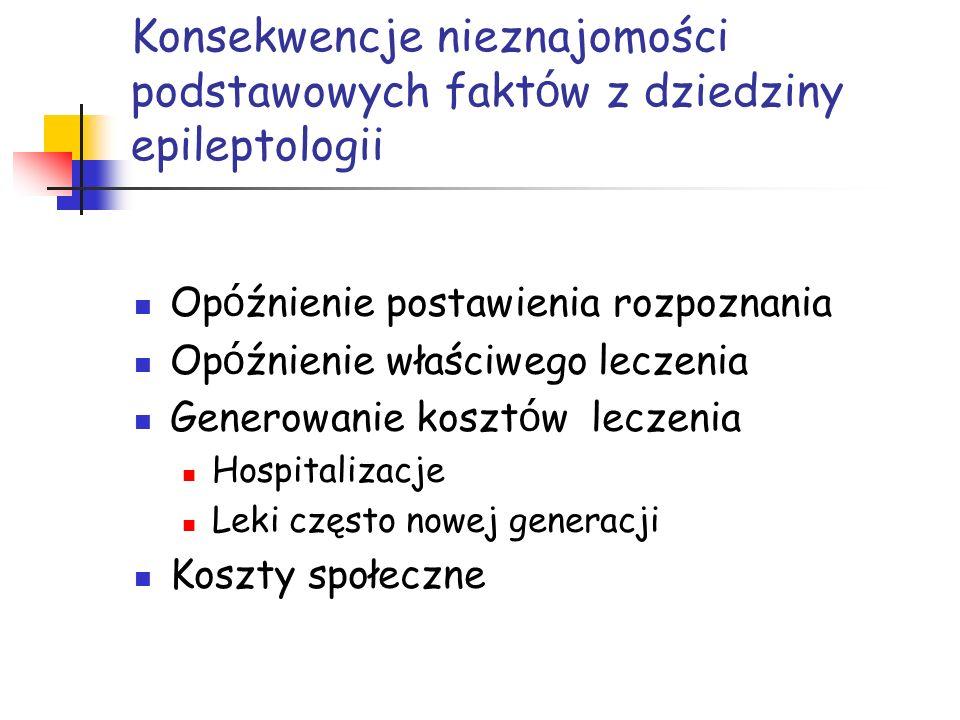 Konsekwencje nieznajomości podstawowych faktów z dziedziny epileptologii