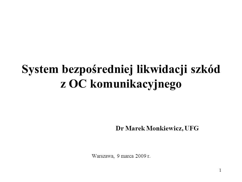 System bezpośredniej likwidacji szkód z OC komunikacyjnego