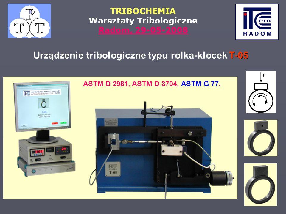 Urządzenie tribologiczne typu rolka-klocek T-05