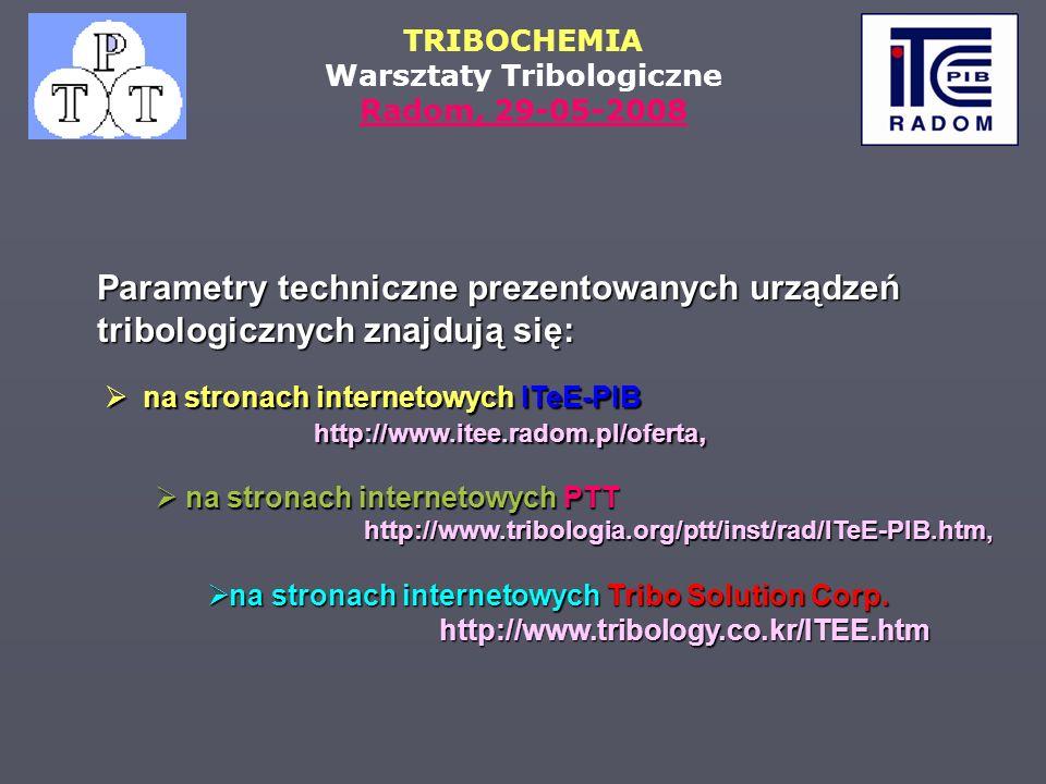 na stronach internetowych ITeE-PIB http://www.itee.radom.pl/oferta,