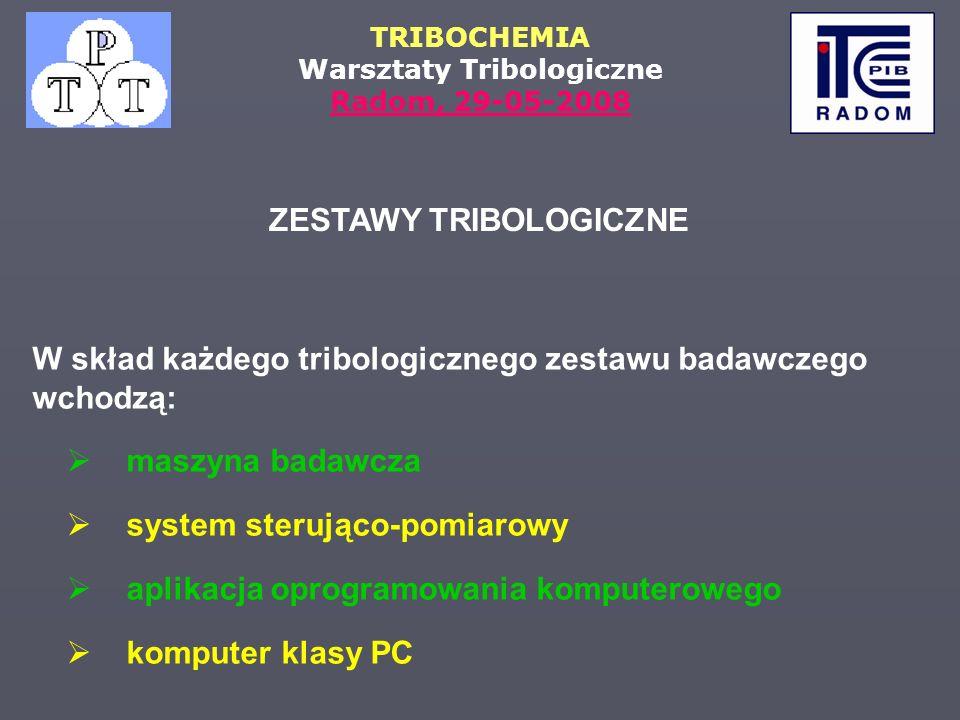 ZESTAWY TRIBOLOGICZNE