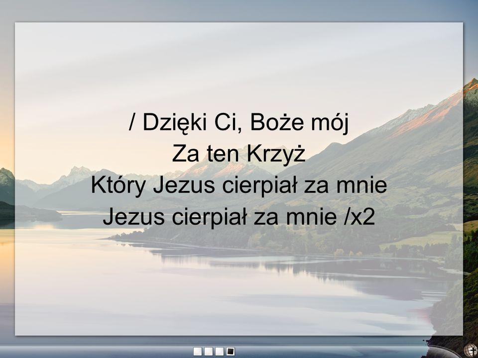 Który Jezus cierpiał za mnie Jezus cierpiał za mnie /x2