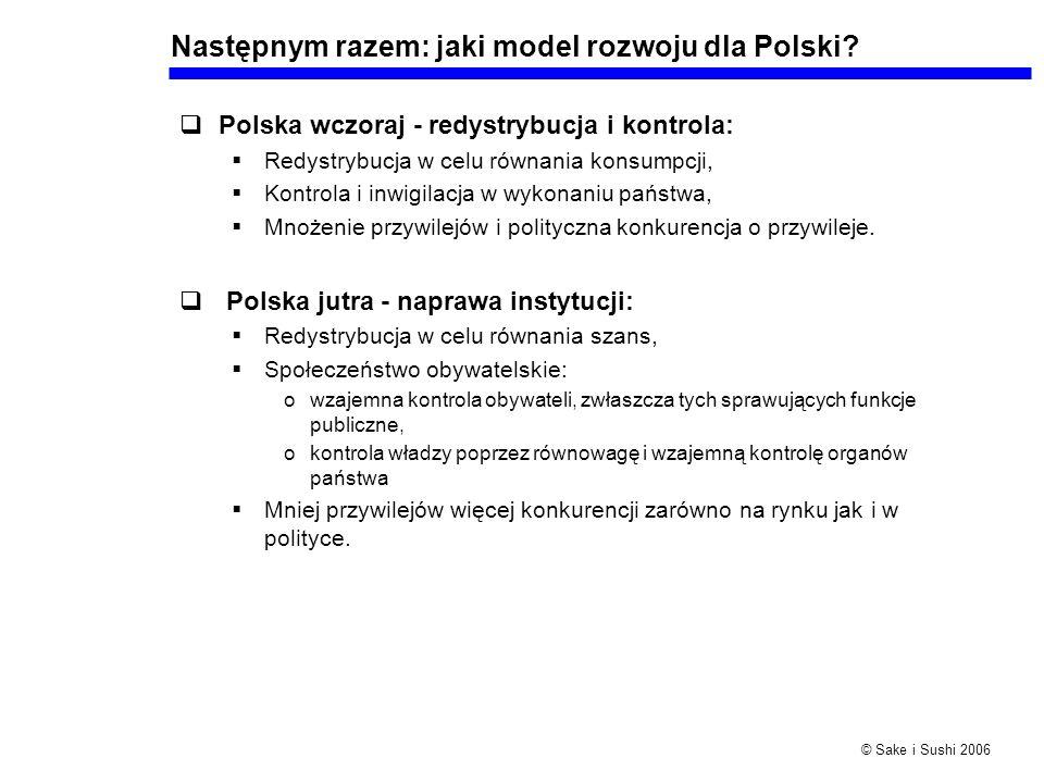 Następnym razem: jaki model rozwoju dla Polski