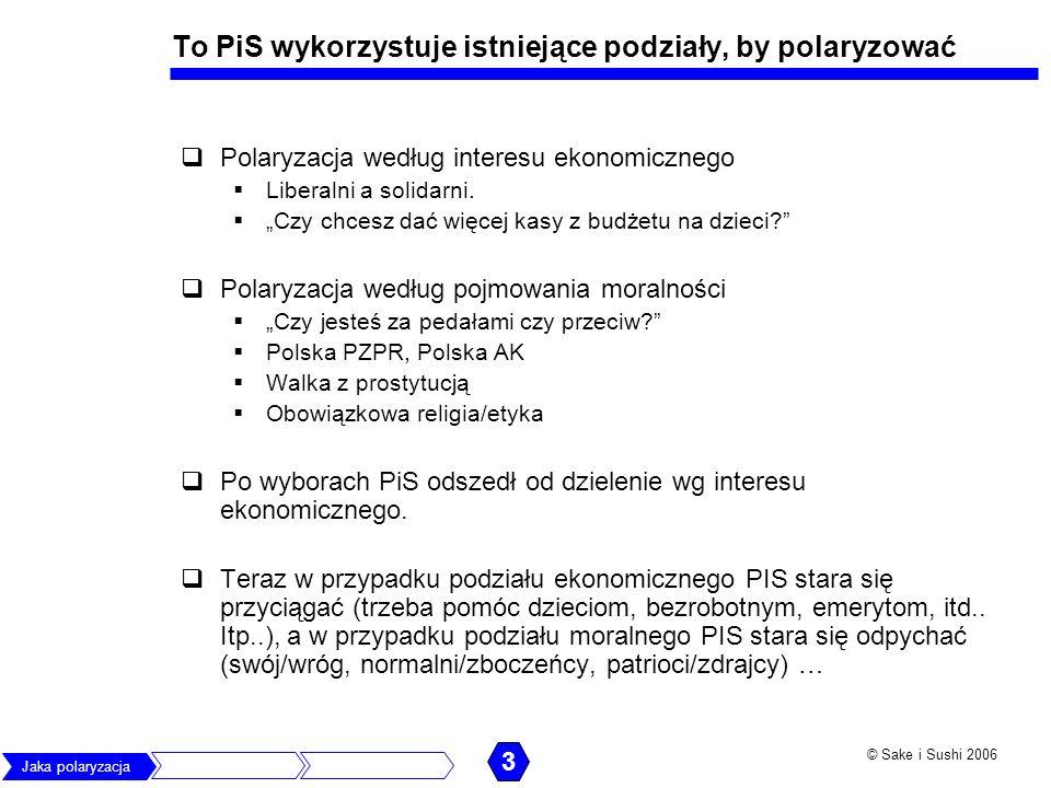 To PiS wykorzystuje istniejące podziały, by polaryzować