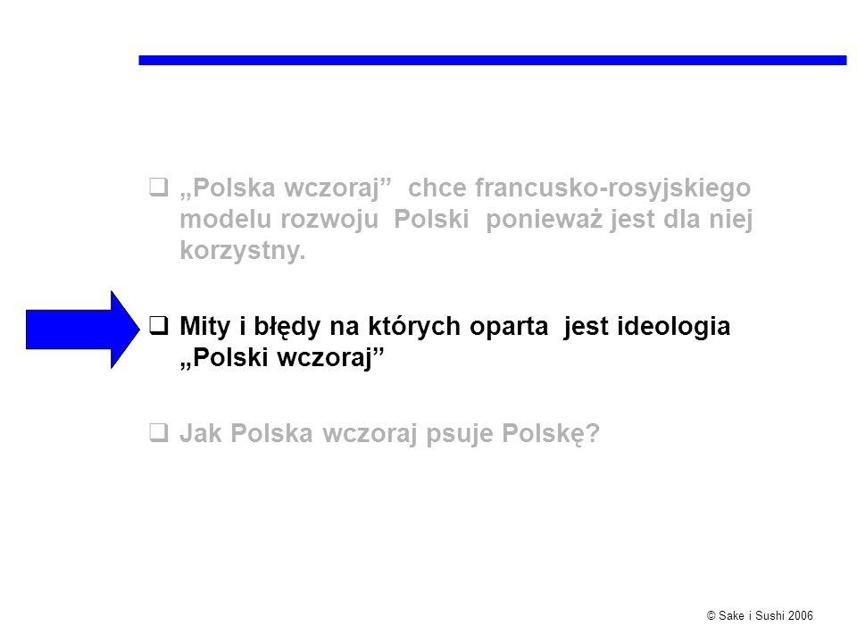 """""""Polska wczoraj chce francusko-rosyjskiego modelu rozwoju Polski ponieważ jest dla niej korzystny."""