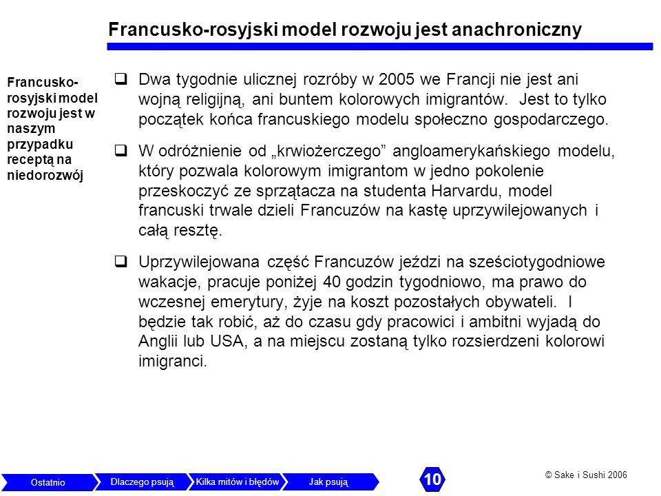 Francusko-rosyjski model rozwoju jest anachroniczny