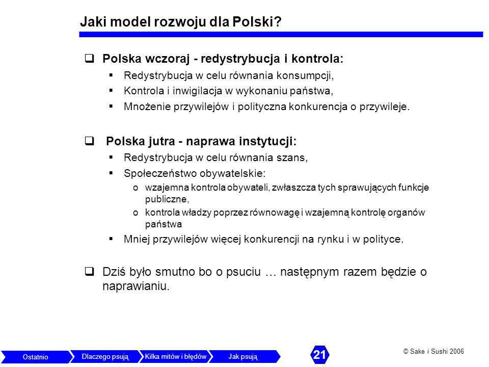 Jaki model rozwoju dla Polski