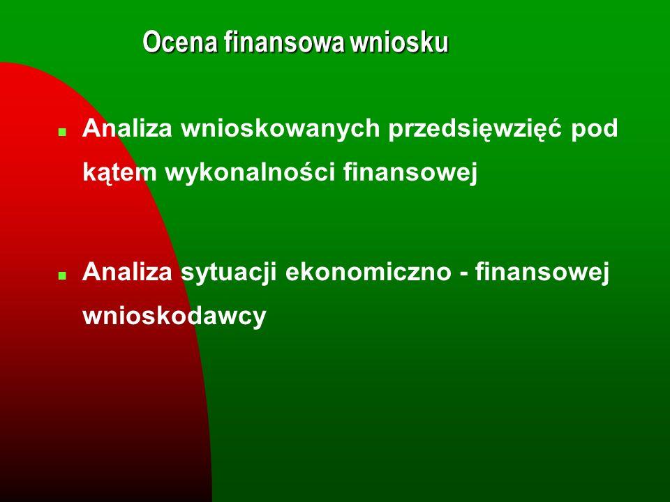 Ocena finansowa wniosku