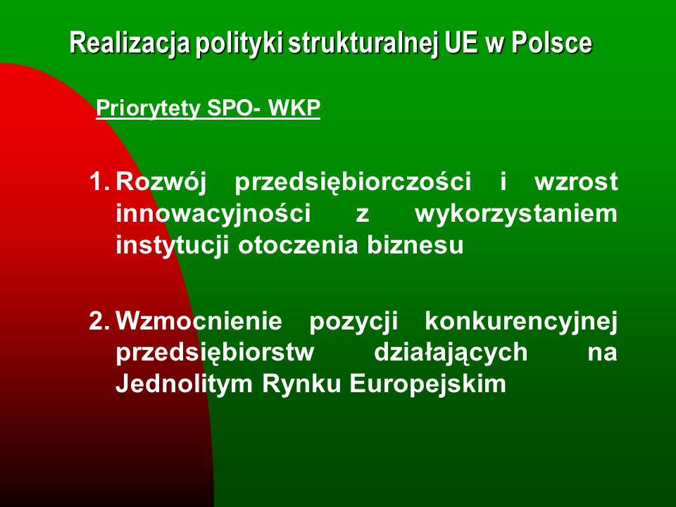 Realizacja polityki strukturalnej UE w Polsce