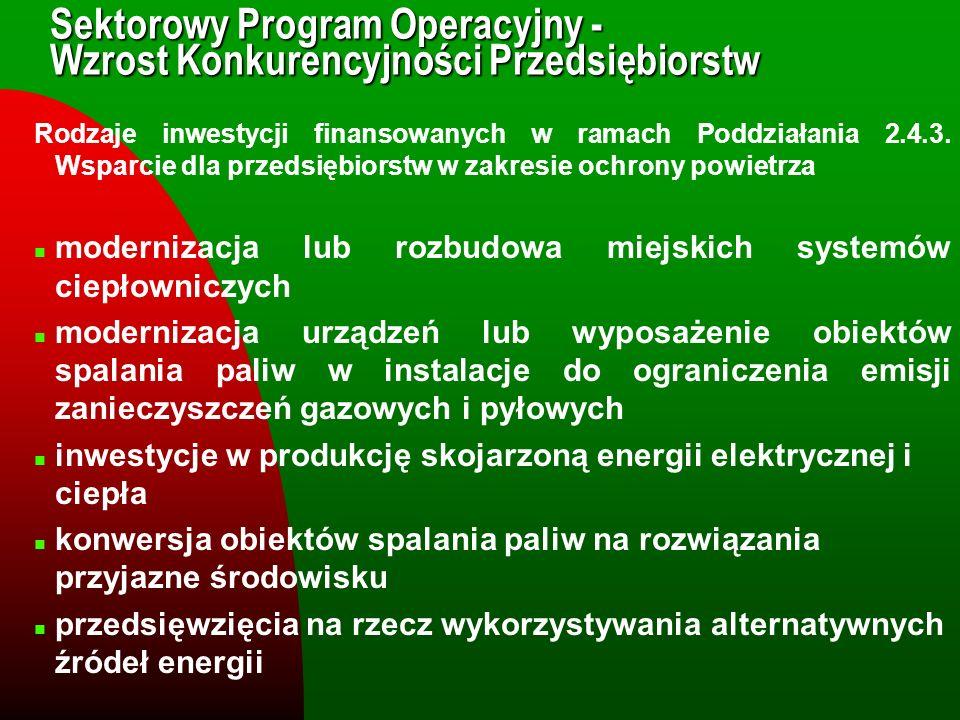 Sektorowy Program Operacyjny - Wzrost Konkurencyjności Przedsiębiorstw