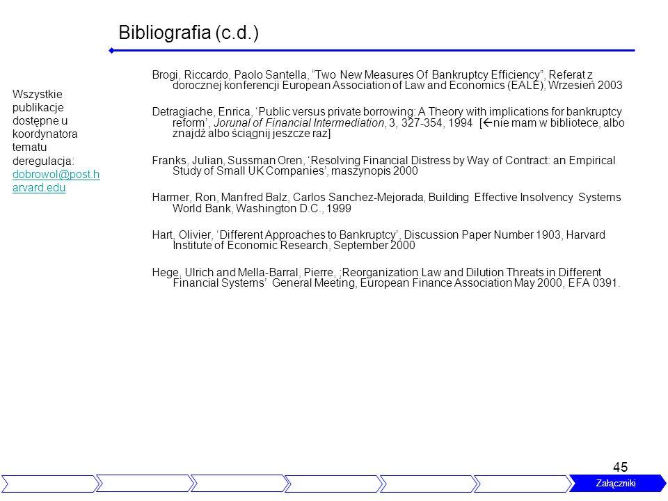 Bibliografia (c.d.)