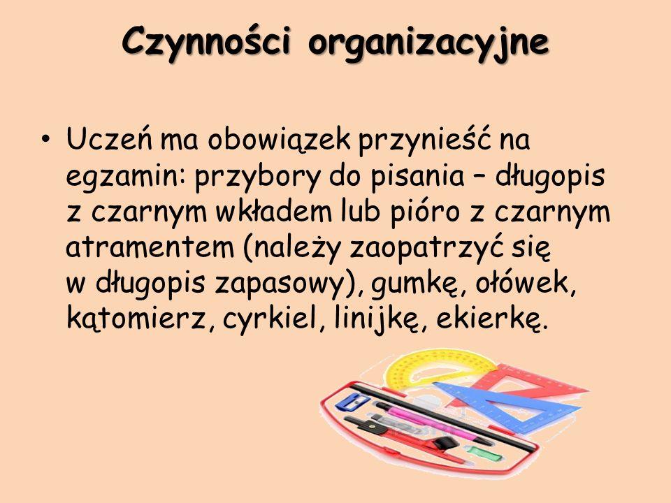 Czynności organizacyjne