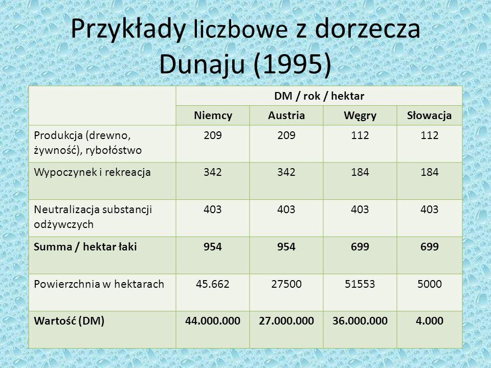 Przykłady liczbowe z dorzecza Dunaju (1995)
