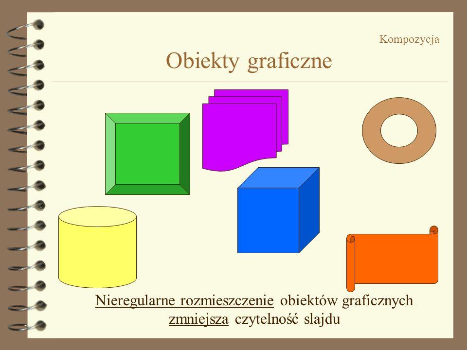 Nieregularne rozmieszczenie obiektów graficznych