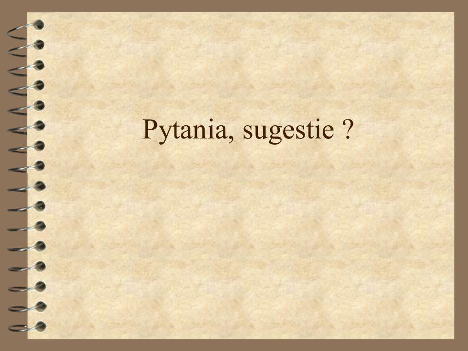 Pytania, sugestie