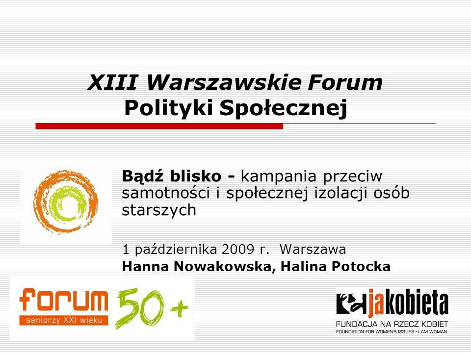 XIII Warszawskie Forum Polityki Społecznej