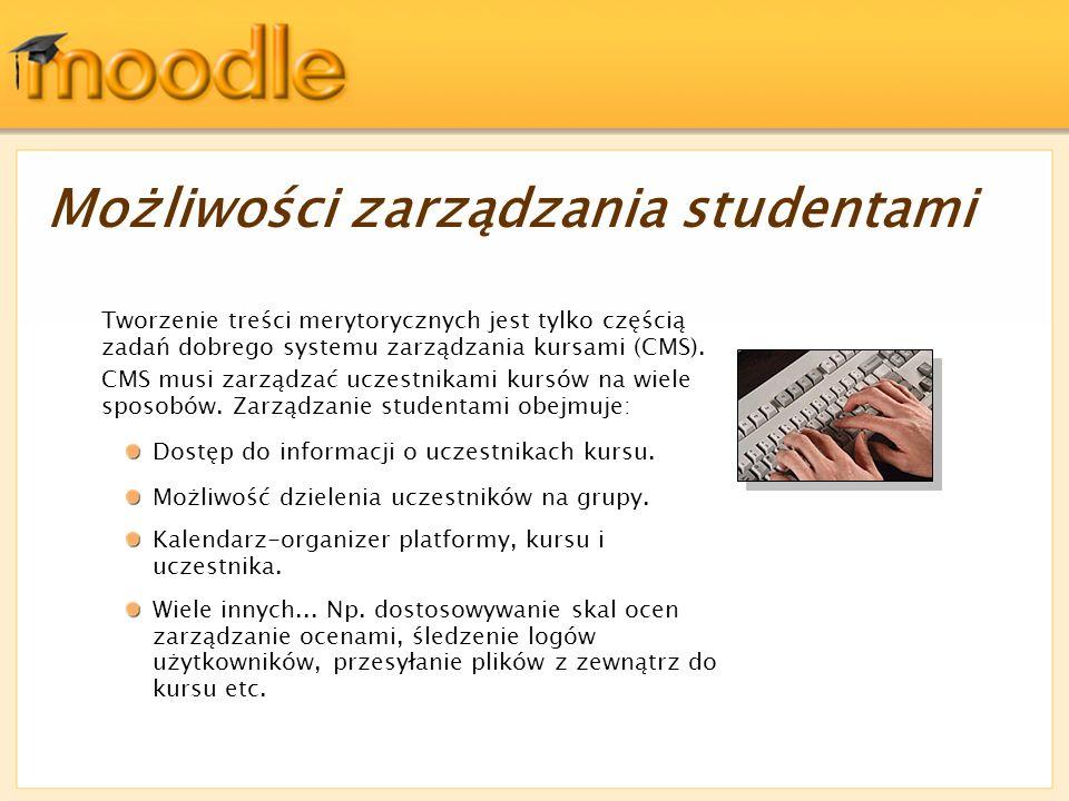 Możliwości zarządzania studentami