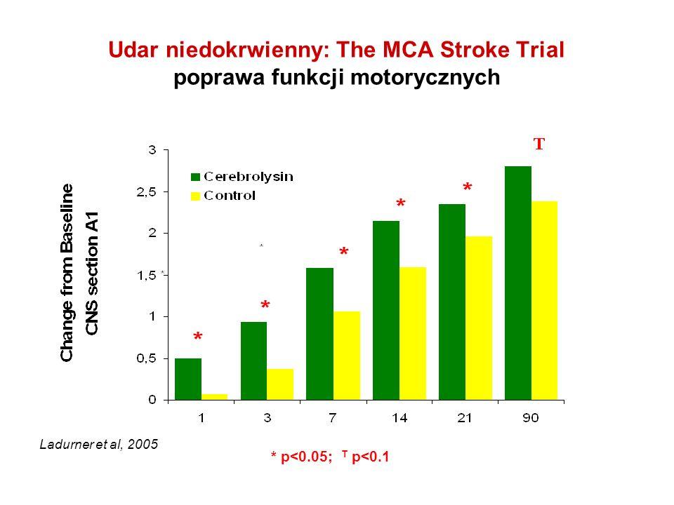 Udar niedokrwienny: The MCA Stroke Trial poprawa funkcji motorycznych