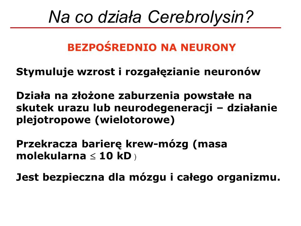BEZPOŚREDNIO NA NEURONY