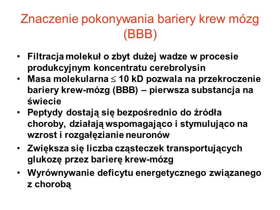 Znaczenie pokonywania bariery krew mózg (BBB)