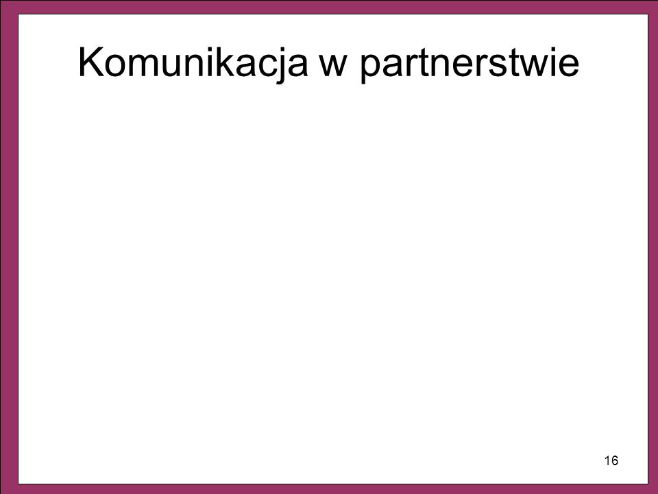 Komunikacja w partnerstwie