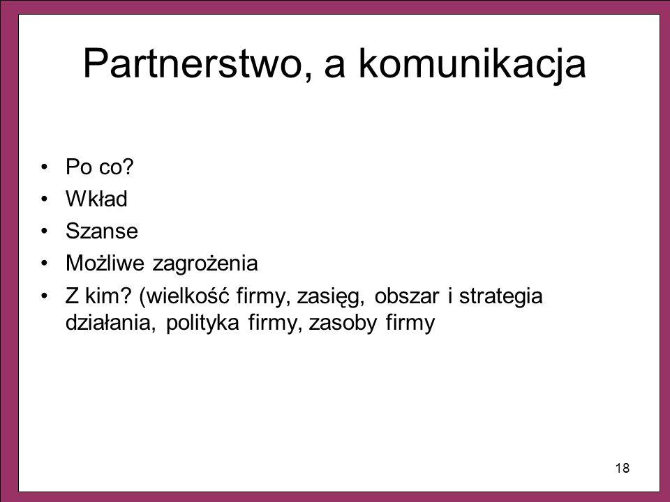 Partnerstwo, a komunikacja