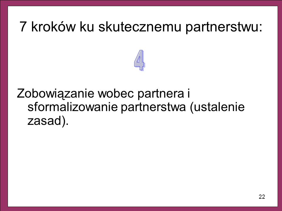 7 kroków ku skutecznemu partnerstwu: