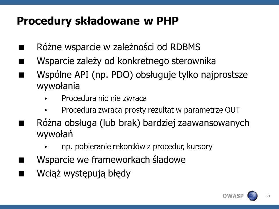 Procedury składowane w PHP