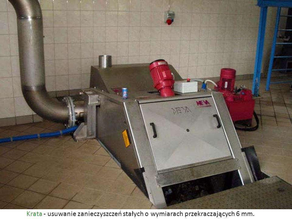 KrataUsuwanie zanieczyszczeń stałych o wymiarach przekraczających 6 mm.