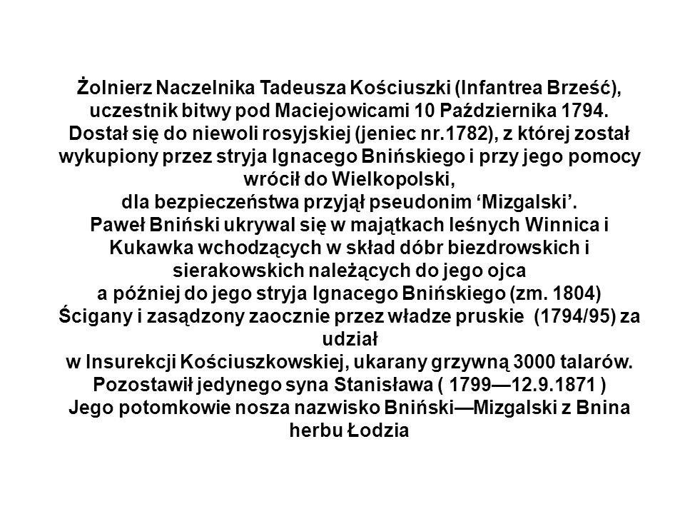Żolnierz Naczelnika Tadeusza Kościuszki (Infantrea Brześć),
