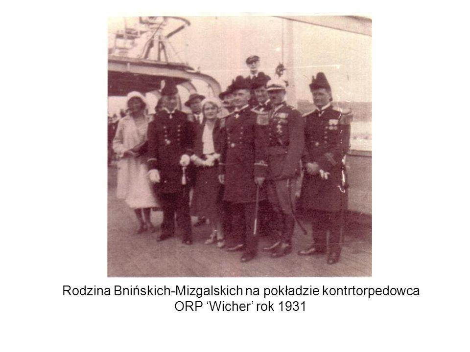 Rodzina Bnińskich-Mizgalskich na pokładzie kontrtorpedowca