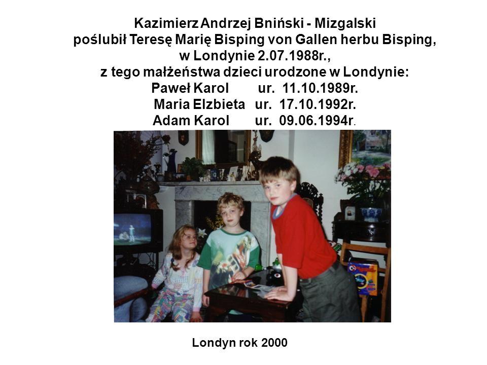 Kazimierz Andrzej Bniński - Mizgalski