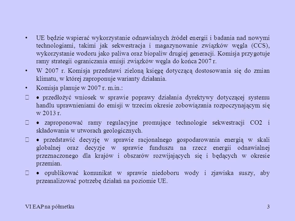 Komisja planuje w 2007 r. m.in.: