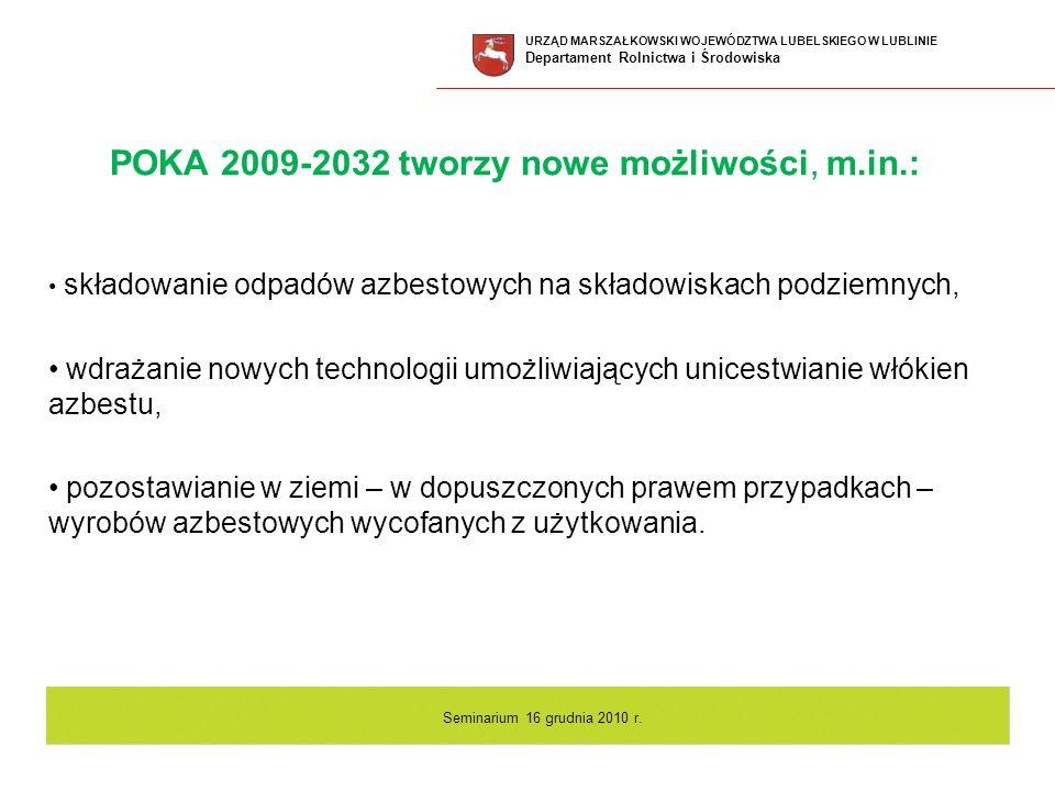 POKA 2009-2032 tworzy nowe możliwości, m.in.: