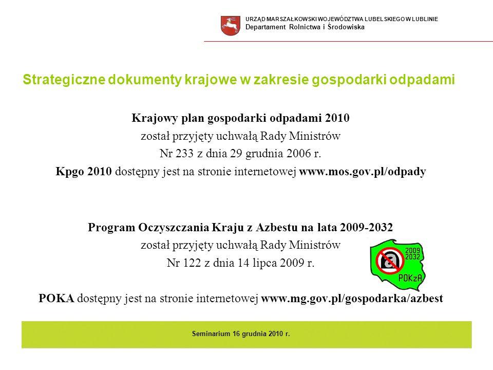 Program Oczyszczania Kraju z Azbestu na lata 2009-2032