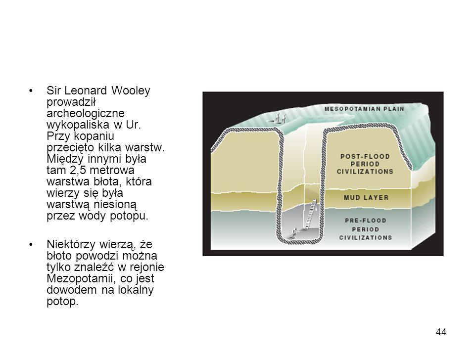 Sir Leonard Wooley prowadził archeologiczne wykopaliska w Ur
