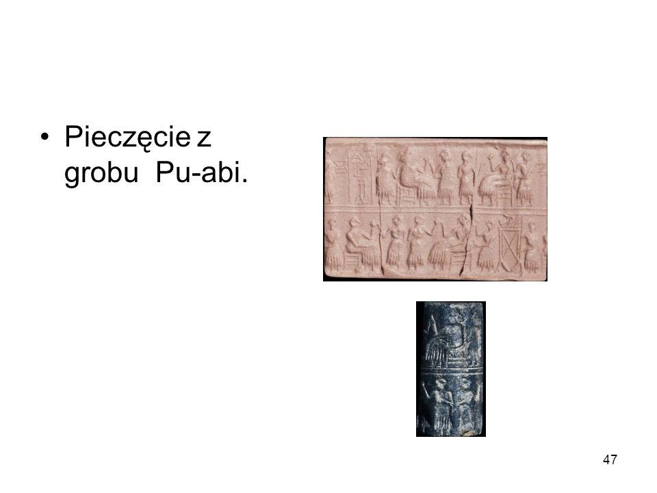 Pieczęcie z grobu Pu-abi.