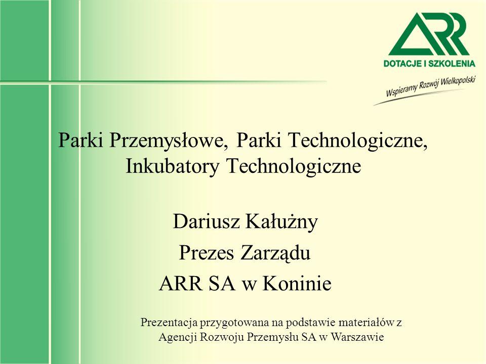 Parki Przemysłowe, Parki Technologiczne, Inkubatory Technologiczne