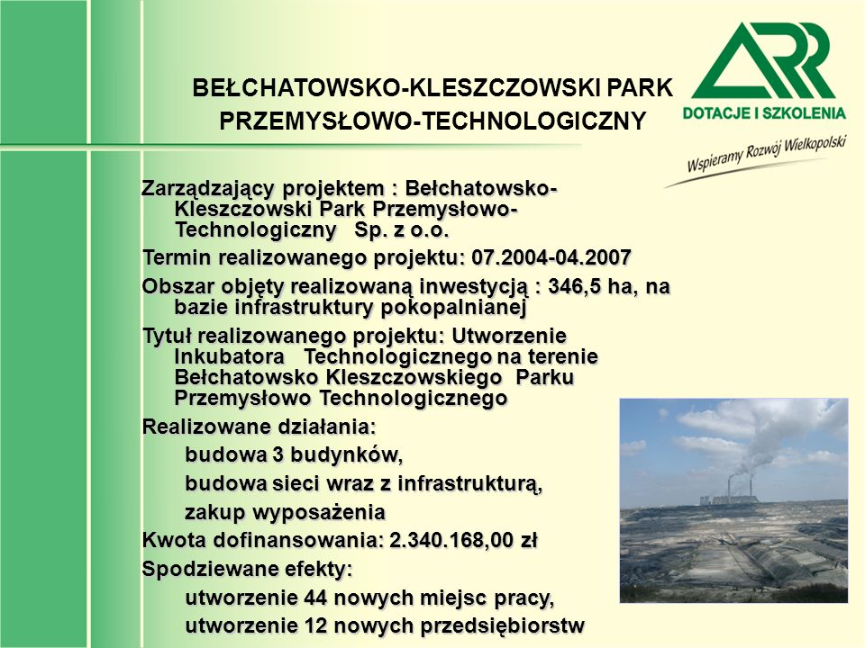 BEŁCHATOWSKO-KLESZCZOWSKI PARK PRZEMYSŁOWO-TECHNOLOGICZNY