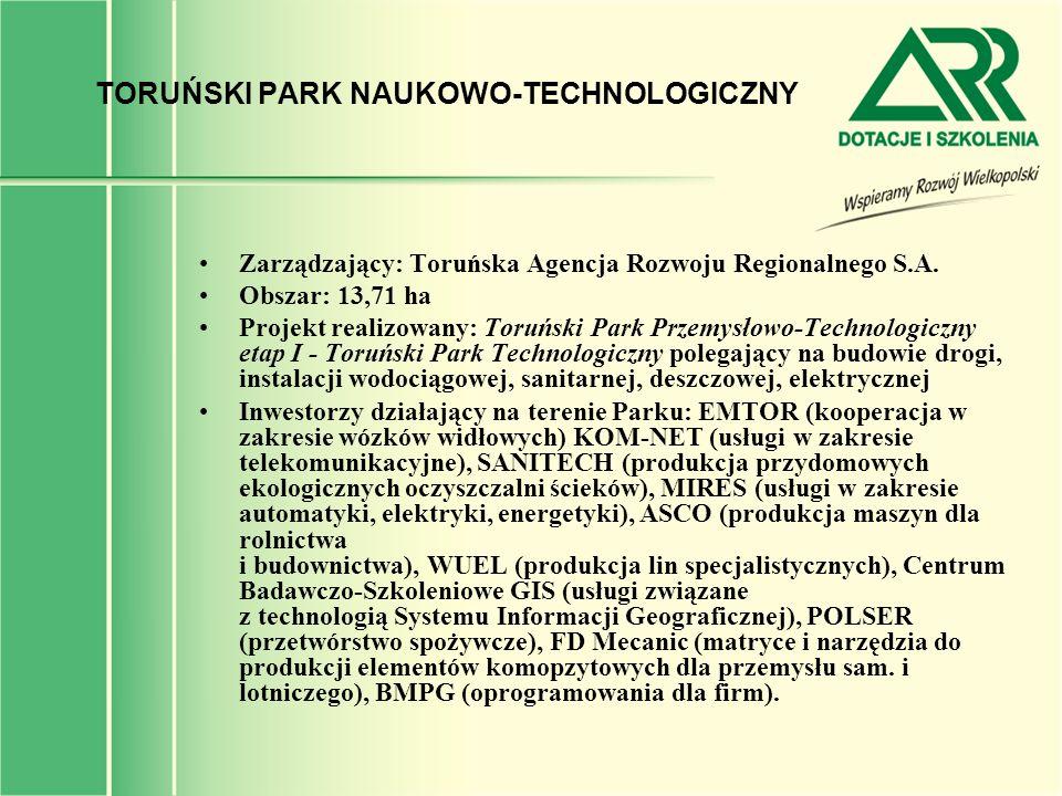TORUŃSKI PARK NAUKOWO-TECHNOLOGICZNY
