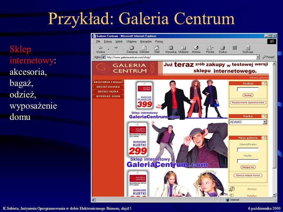 Przykład: Galeria Centrum