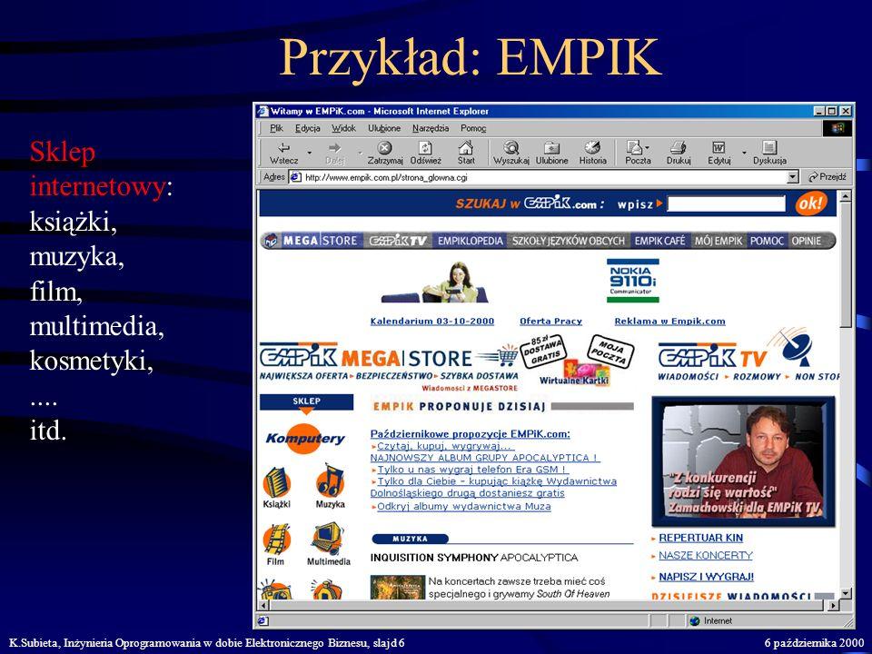 Przykład: EMPIK Sklep internetowy: książki, muzyka, film, multimedia,