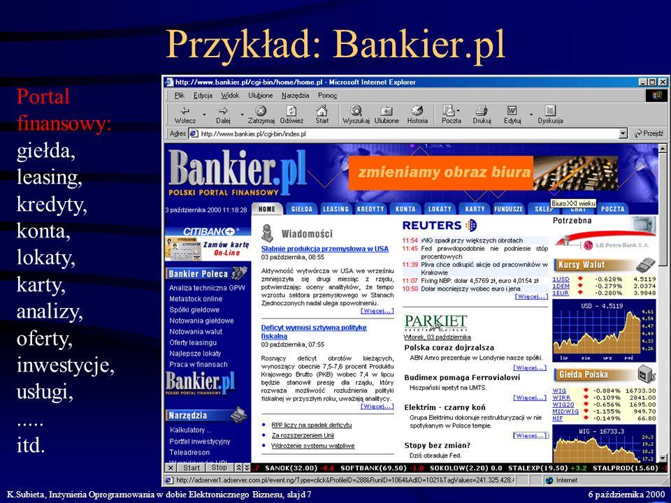 Przykład: Bankier.pl Portal finansowy: giełda, leasing, kredyty,