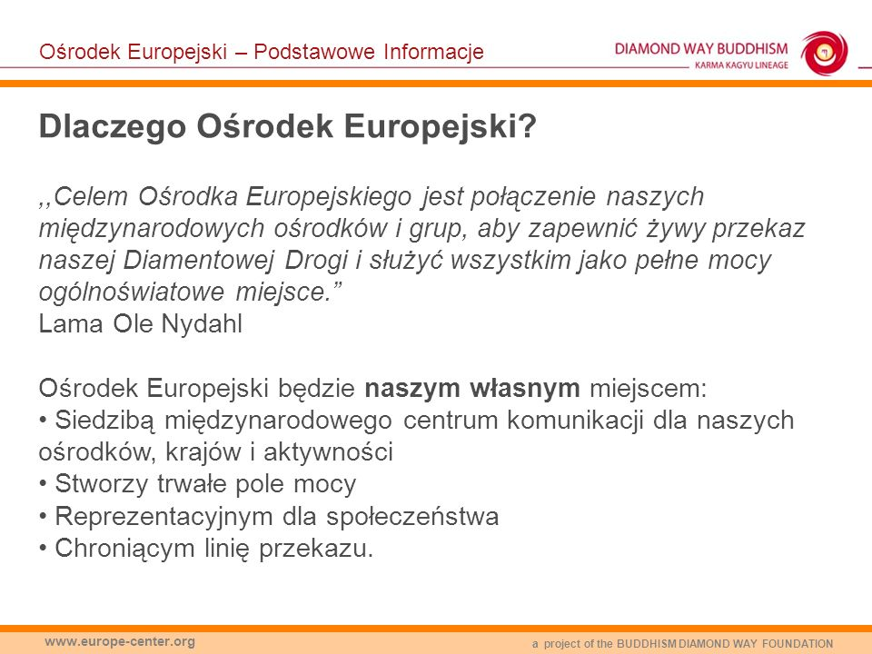 Dlaczego Ośrodek Europejski