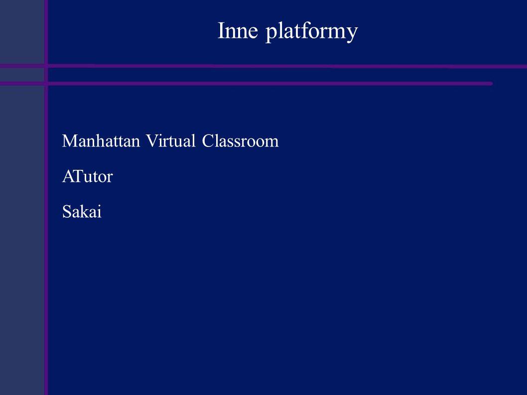 Inne platformy Manhattan Virtual Classroom ATutor Sakai