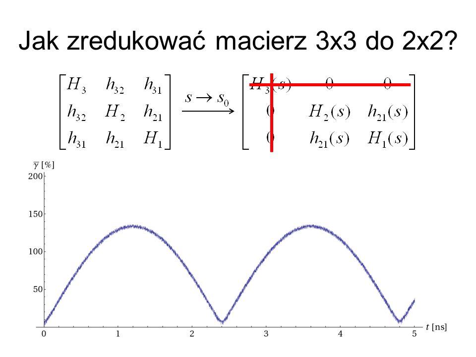 Jak zredukować macierz 3x3 do 2x2